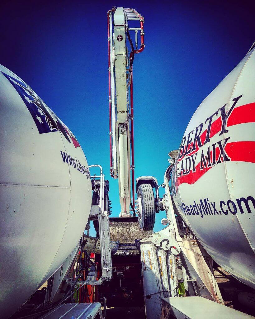 Cement Mixers at a Commercial Job Site